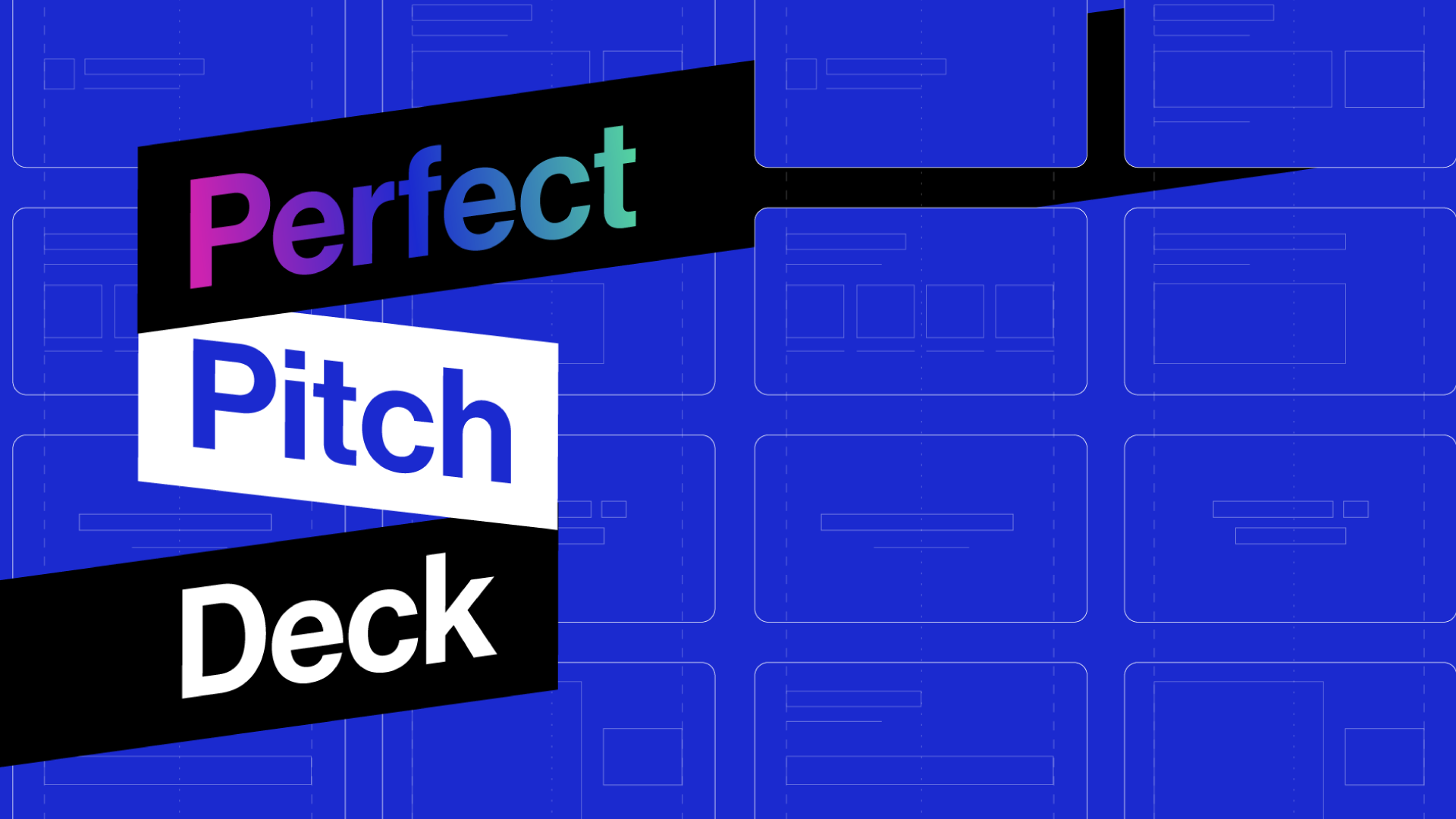 Does the perfect pitch deck structure actually exist?